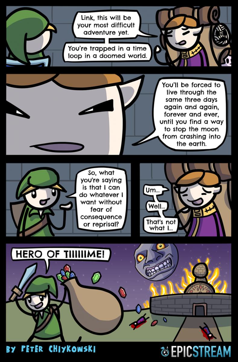 Comics, viñetas, imágenes divertidas en inglés Epicstream-015-this-is-how-99-percent-of-gamers-react-to-time-travel-plots%20(1)